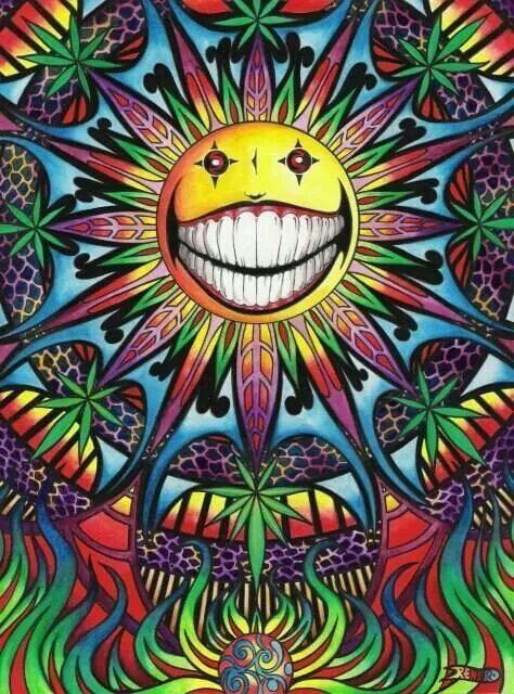 Psychedelic Marijuana Art:-D
