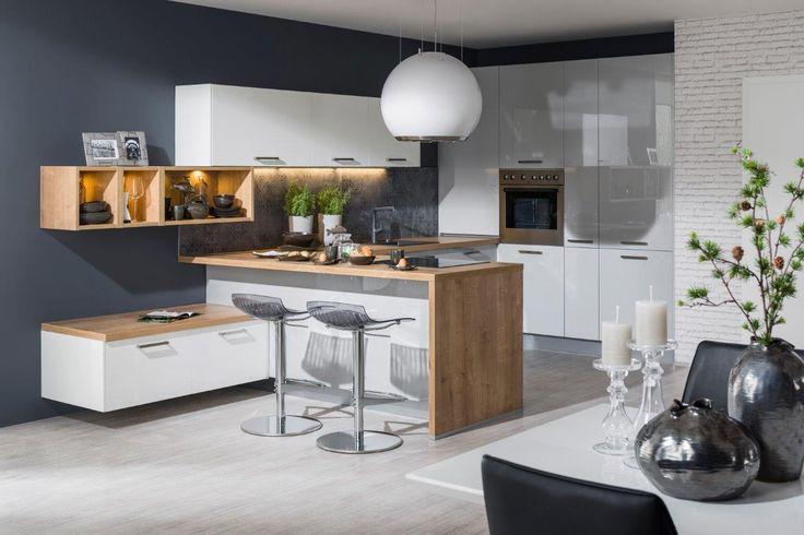 kuchyňa: Iris vyhotovenie: Biela Vysoký Lesk / Perla Šedá Vysoký Lesk / Dub Arlington