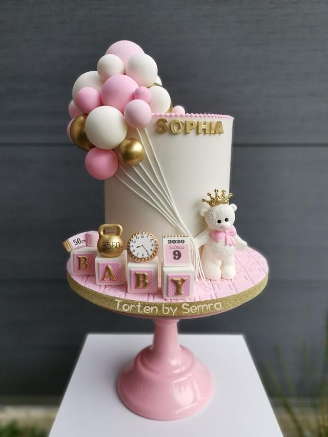 Cakes For Baby Girl : cakes, Welcome, TortenbySemra, Birthday, Cake,, Girls, First
