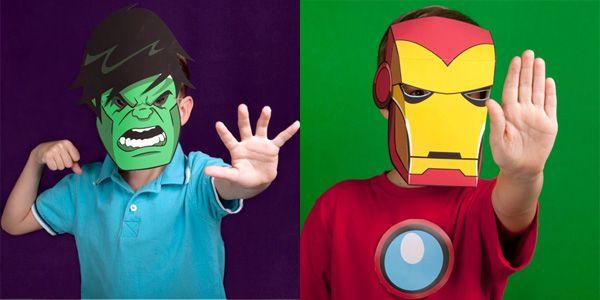 Maschere di Supereroi Fai da Te da Stampare per Bambini