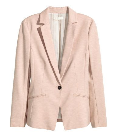 H&M Jersey Blazer $35 : Description - Fitted blazer in jersey with front welt pockets. Vent at back. Lined. - Details - 80% polyester, 18% rayon, 2% spandex. Machine wash cold - Imported