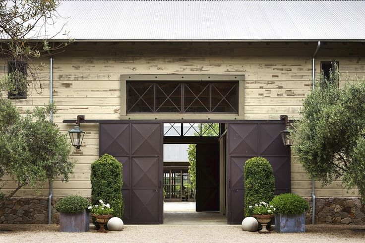 Barn door entrance - lovely. Barbara Colvin and Co.