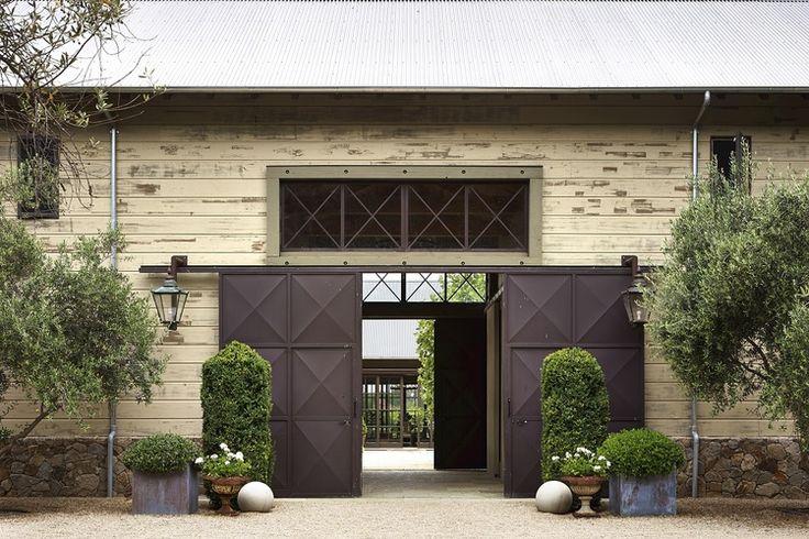 Barn door entrance - lovely. Barbara Colvin and Co.