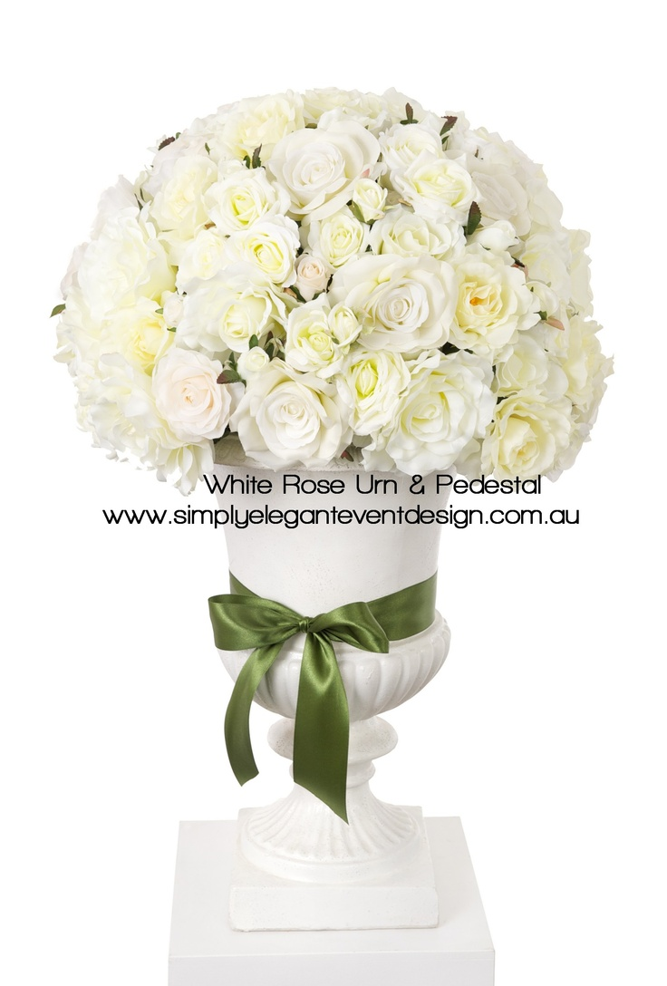 A gorgeous garden urn creates the perfect frame for you and your partner for an indoor or outdoor wedding ceremony.