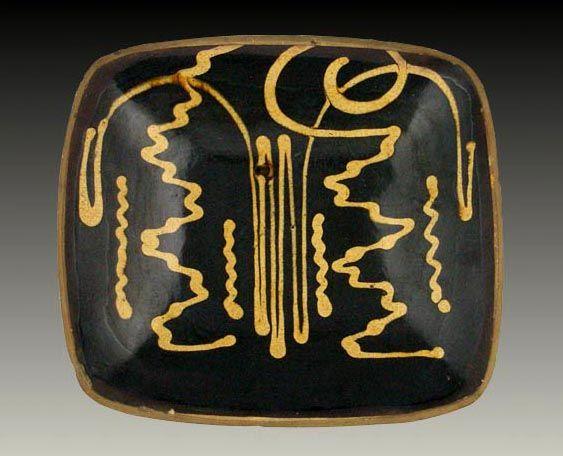 Slipware dish, Staffordshire, c.1800