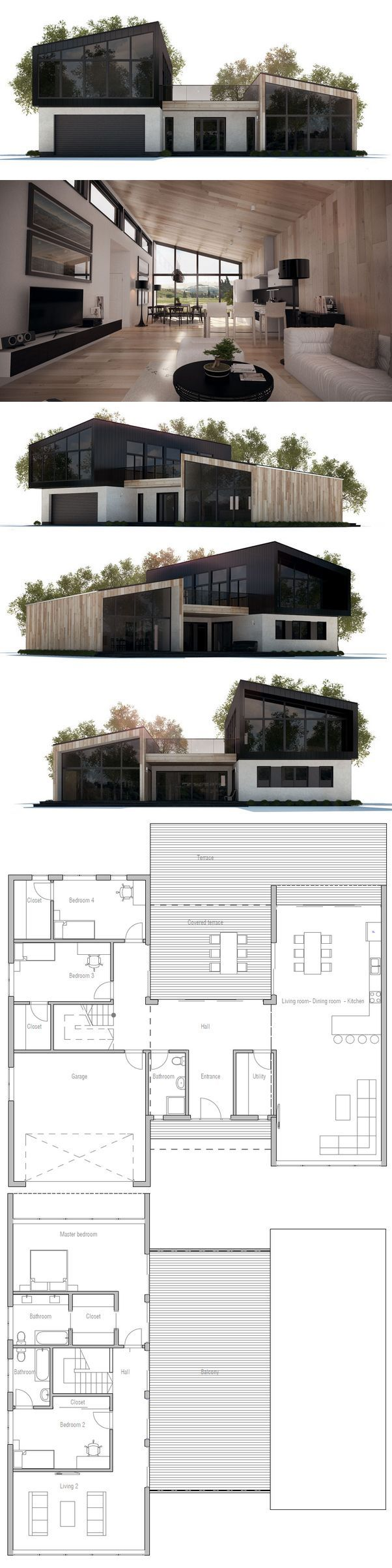 House Plan with four bedrooms./ By Concept homes