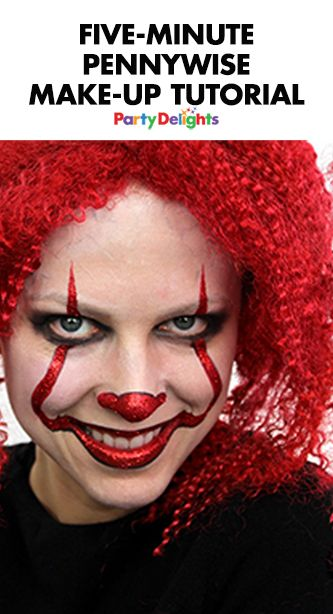 Transform yourself into the scary clown from IT with this easy Pennywise make-up tutorial. Find out how to do Pennywise face paint in a couple of simple steps. Perfect for anyone planning a scary clown costume for Halloween 2017.