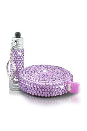 Argento SC Bling Flashlight & Tape Measure Set In Purple