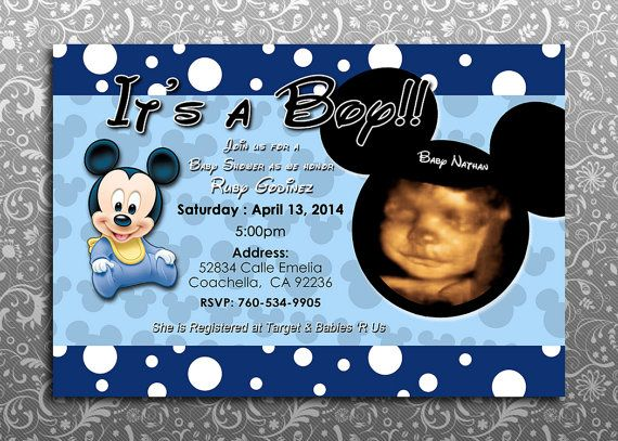 16 best winnie the pooh baby shower cake images on pinterest baby baby mickey mouse invitations by designs4kidz on etsy filmwisefo Images