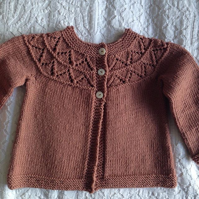 Finally finished! First ever knitted project I have managed to complete! For My niece Audrey. Aged almost 3 years old. #wool #imadeit #grannysfavourite #debbiebliss #lacework #vintagebuttons #icanknit