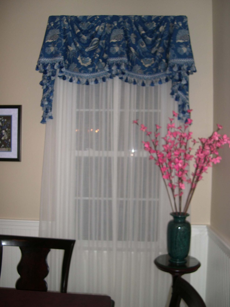 Board Mounted Federal Style Valance With Sheers Window