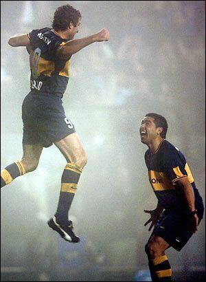 Palermo and Juan Román Riquelme, Boca Juniors