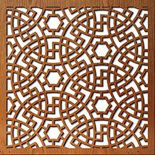 Persian Circles laser cut window coverings