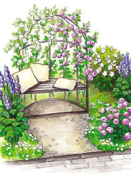 ideen f r den reihenhaus vorgarten garden plans. Black Bedroom Furniture Sets. Home Design Ideas