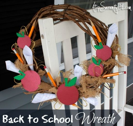 Back to school wreath • Atop Serenity Hill
