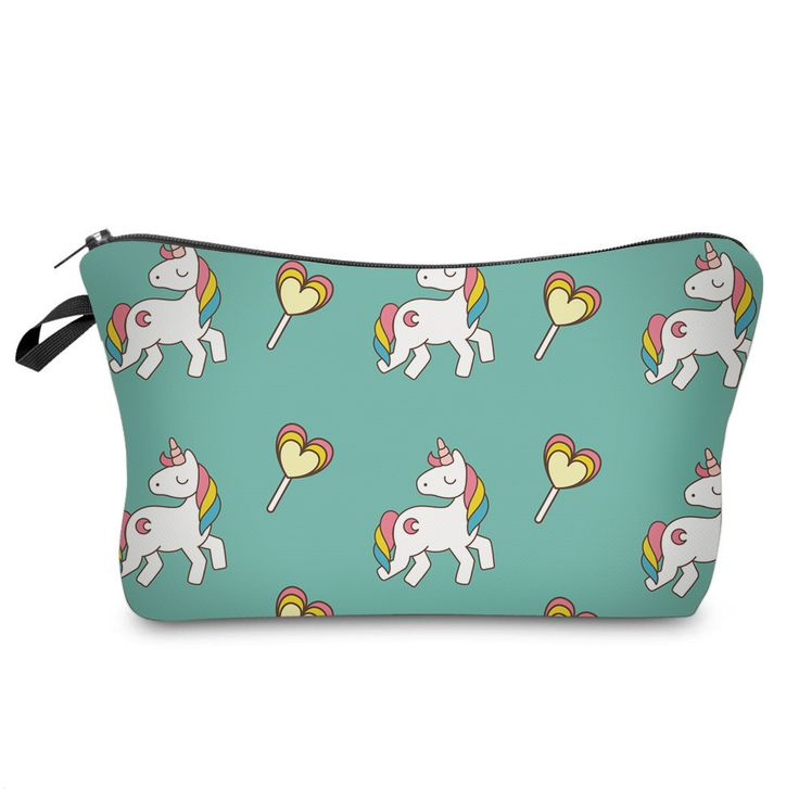 Unicorns and Lolly Pop Cosmetic Case