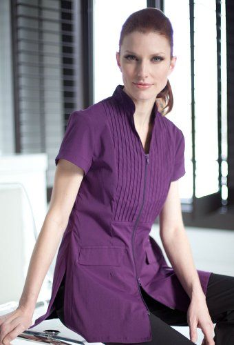 Spa uniforms women 39 s dolce women 39 s tops tees spa for Spa uniform patterns