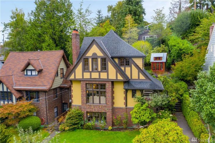 Montlake Tudor with garden house and sweeping view asks $1.2 million