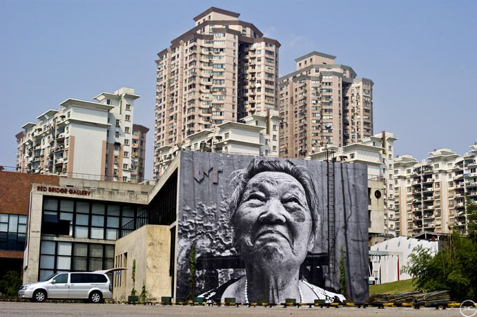 Wrinkles of the City, Shanghai 2010 - Red Town District by JR
