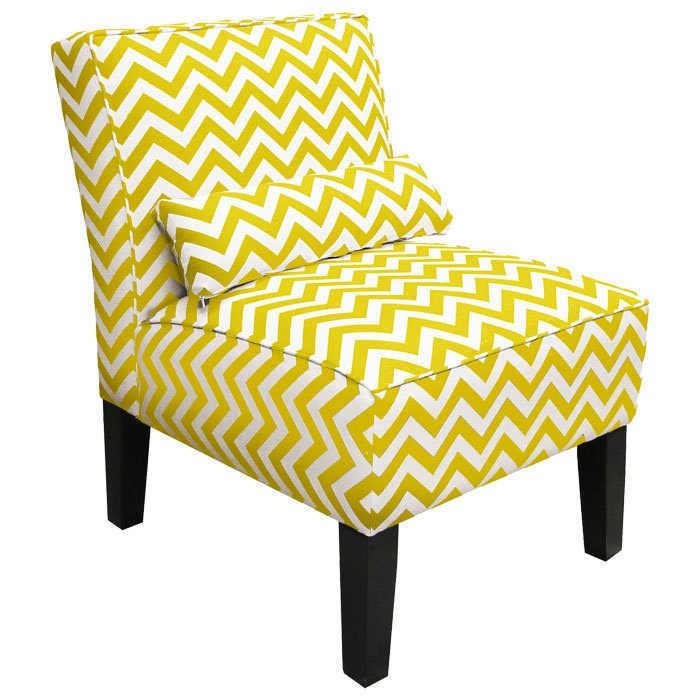 Chevron Accent ChairChairconstruct Materials, Joss And Maine, Chevron Chairs, Crafts Room, Living Room, Yellow, Accent Furniture, Accent Chairs, Chevron Stripes