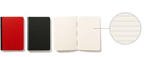 taccuino n.4 Taccuino con rigatura da 6 mm in carta uso mano di qualità superiore. Pura cellulosa a fibre lunghe per una perfetta tenuta degli inchiostri. Legatura bodoniana in carta editoriale anti-impronta, dorso in tessuto e cucitura a filo refe rosso. collezione: scrittura dimensioni: 10·14,5 cm copertina: rigida rilegatura: dorso in tela tipo di pagine: a righe (6 mm) n. di pagine: 128 grammatura: 85 gr colori: rosso, nero