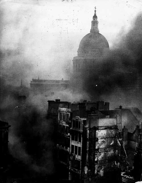 London Blitz WWII.  St. Paul's