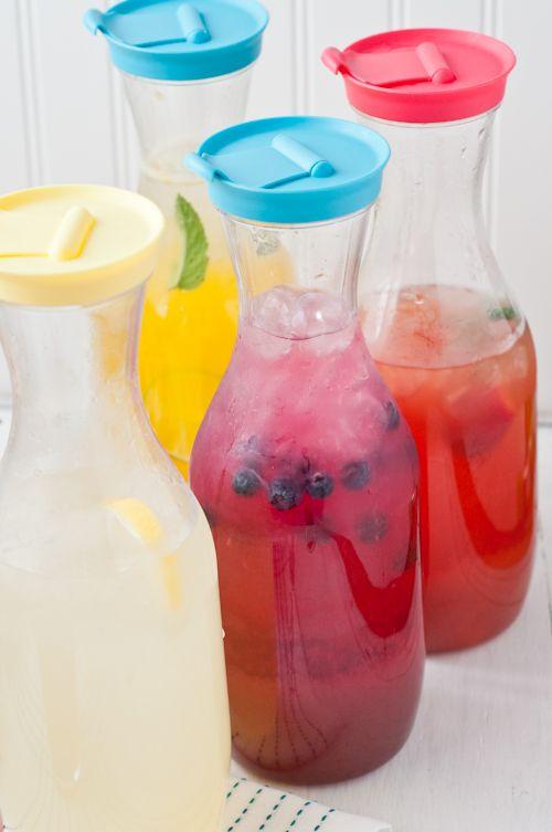 How to make flavored lemonade.