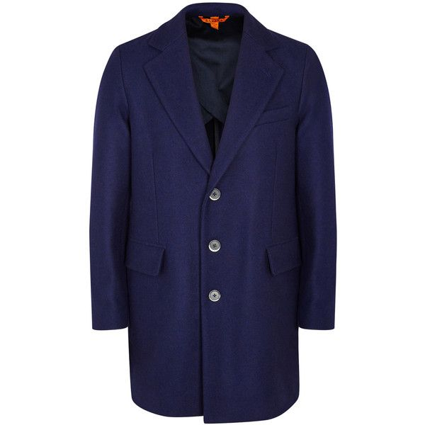 Barena Borella navy wool coat (38.695 RUB) ❤ liked on Polyvore featuring men's fashion, men's clothing, men's outerwear, men's coats, mens wool coat, mens wool outerwear, mens navy pea coat, mens navy blue trench coat and men's navy wool coat