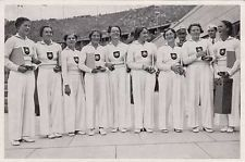 gymnastes gymnasts GERMANY ALLEMAGNE MARATHON JEUX OLYMPIQUES 1936 OLYMPIC GAMES