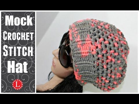 LOOM KNIT HATS - The Mock Crochet Hat Made on a 41-peg Extra Large Round - YouTube