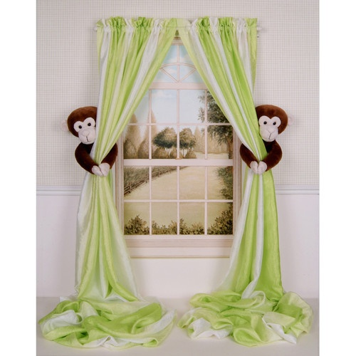 CURTAIN CRITTERS BABY NURSERY JUNGLE SAFARI ZOO MONKEY CURTAIN TIEBACK TOY SET! @Ashlee Outsen Outsen Bristol- http://curtaincritters.com/product_line.html Here is the website for them!