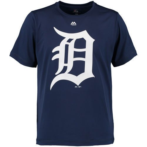 MLB Detroit Tigers Navy Synthetic Official Logo T-Shirt