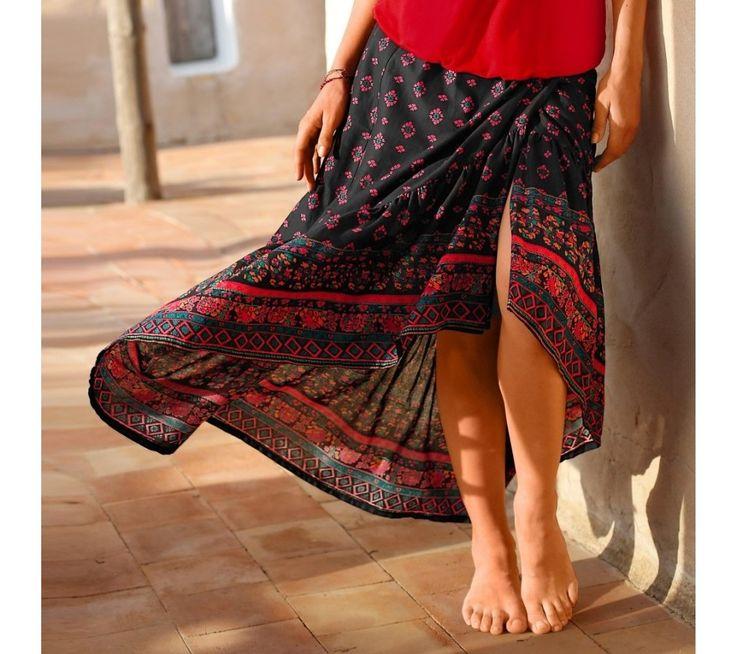 Dlhá asymetrická sukňa | blancheporte.sk #blancheporte #blancheporteSK #blancheporte_sk #novákolekcia #jar #leto
