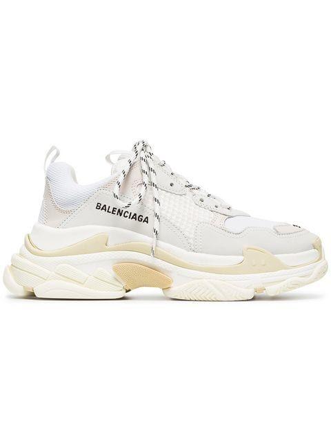 innovative design 536e5 a064f  895 – BALENCIAGA White Triple S Sneakers   farfetch