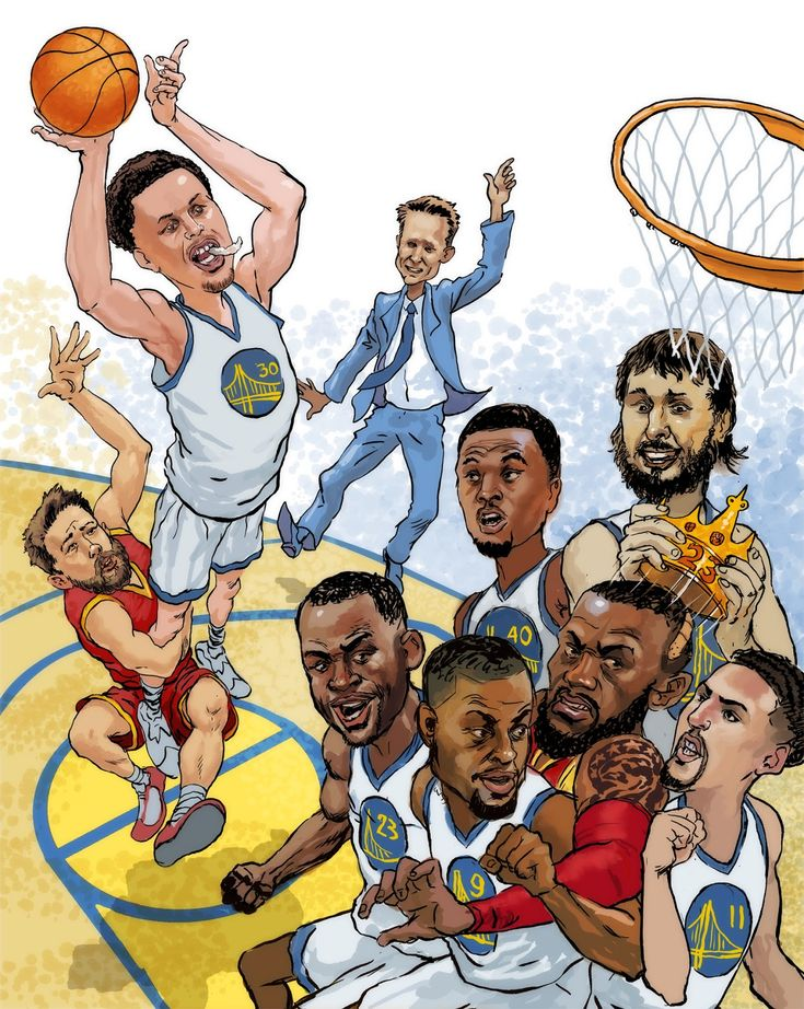 My Illustration For The Newspaper S Warriors Championship