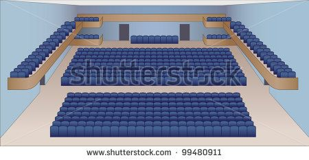 interior of theater hall color plan vector by shooarts, via Shutterstock