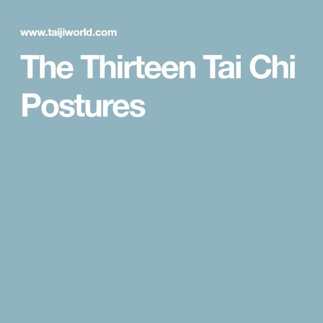 The Thirteen Tai Chi Postures