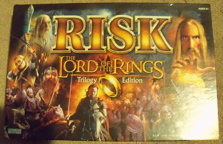 Lord of the Rings Risk LOTR Trilogy Edition 100% Complete Tabletop Board Games #ParkerBrothers