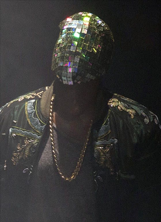Kanye West Mask -- The tiled, reflective covering resembles a disco ball ... and almost veers into Daft Punk territory.