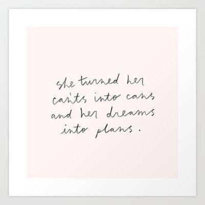 Cans & plans