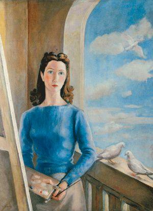 Ángeles Santos, autorretrato 1942