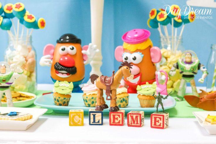 mesa tematica cara de papa candybar
