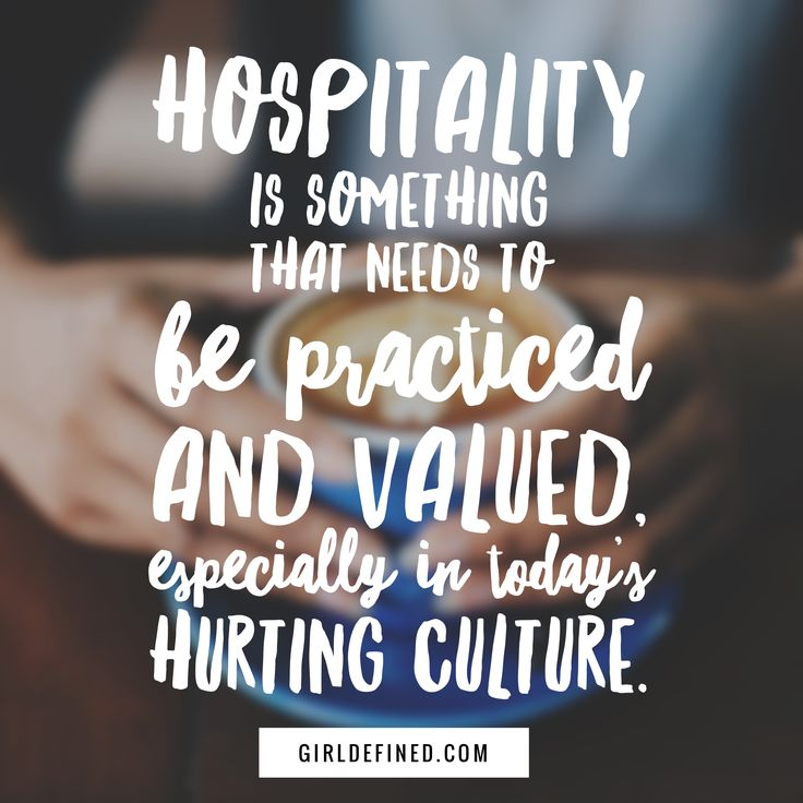 Hospitality is something that needs to be practiced and valued, especially in today's hurting culture.