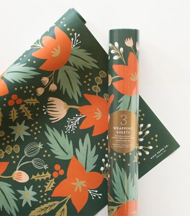 Holiday Greens Wrapping Sheets from Rifle Paper Co.