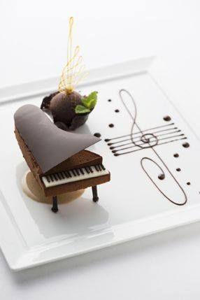 Chocolate Dessert Piano at the Palace Hotel Tokyo, Japan