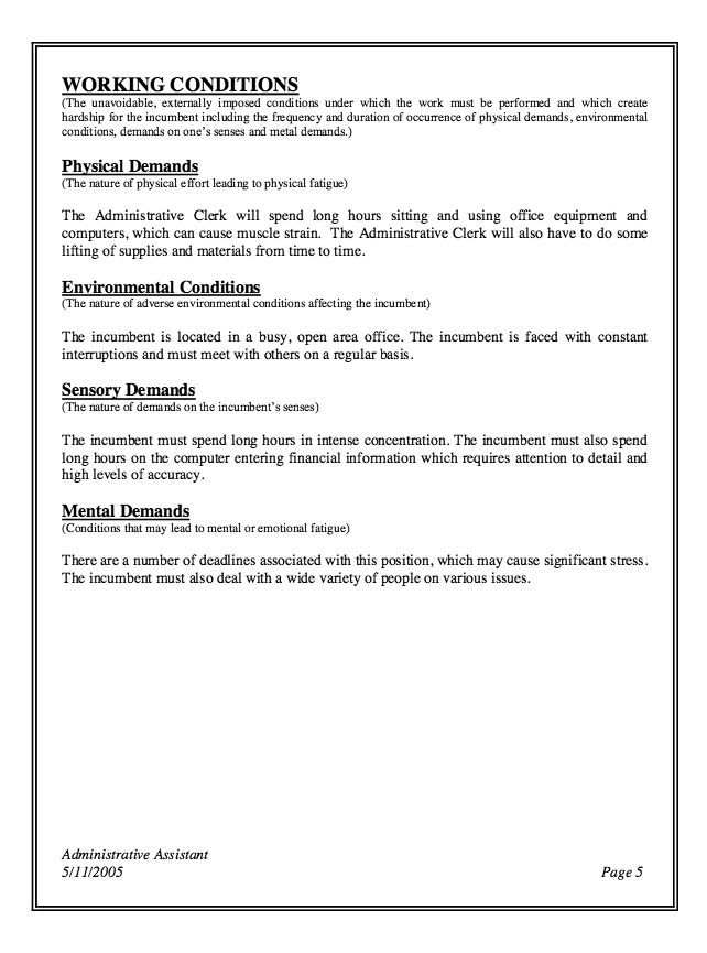 cv for personal assistant