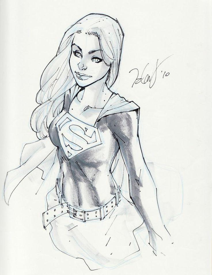 Supergirl / Powergirl #supergirl #powergirl #dccomics #illustration #art #comics - Minus.com