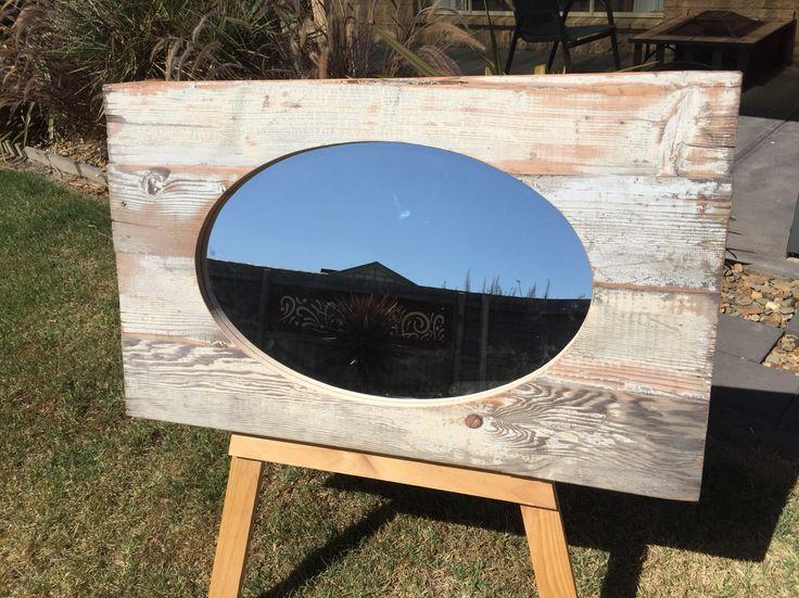 Recycled Oregon panel mirror