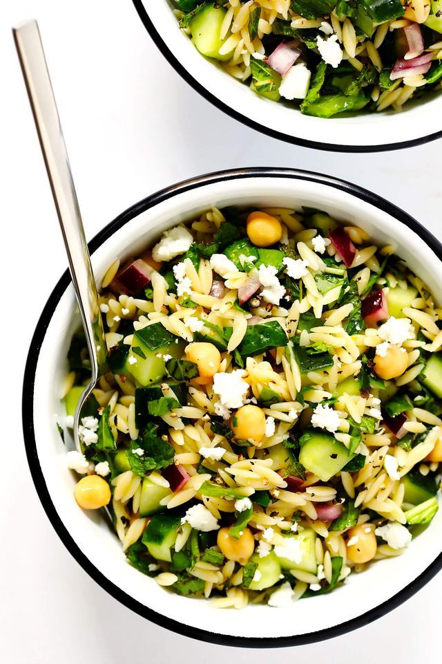Herb Lovers Lemony Orzo Salad Gimme Some Oven Orzo