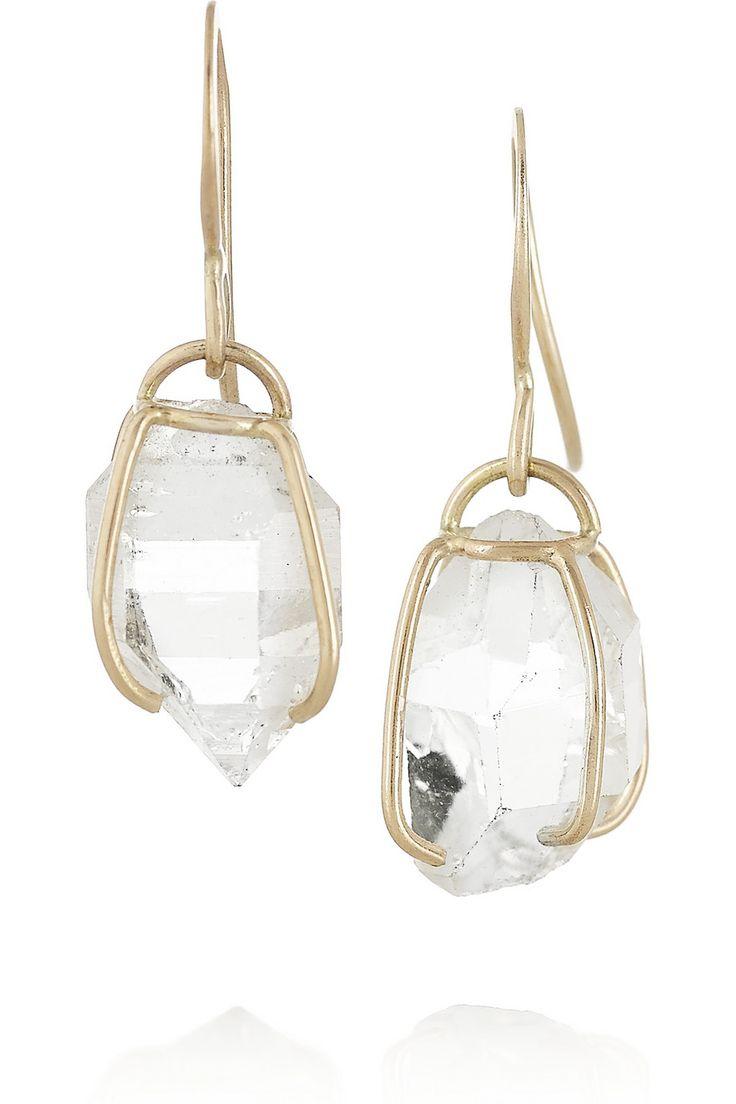 14-karat Gold Chalcedony Earrings - one size Melissa Joy Manning RnbMob